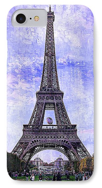 IPhone Case featuring the photograph Eiffel Tower Paris by Kathy Churchman