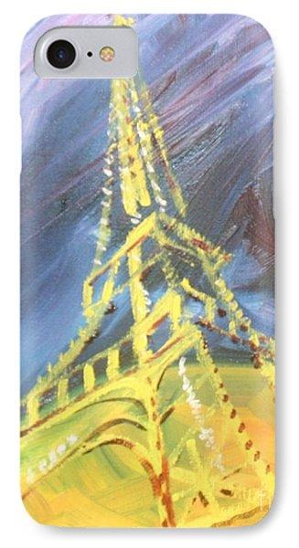 Eiffel Tower Paris Night Phone Case by PainterArtist FIN
