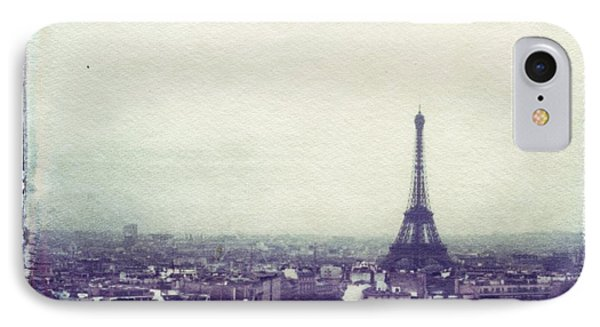 Eiffel Tower Paris Polaroid Transfer Phone Case by Jane Linders