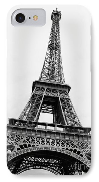 Eiffel Tower Perspective - Black And White IPhone Case by Carol Groenen