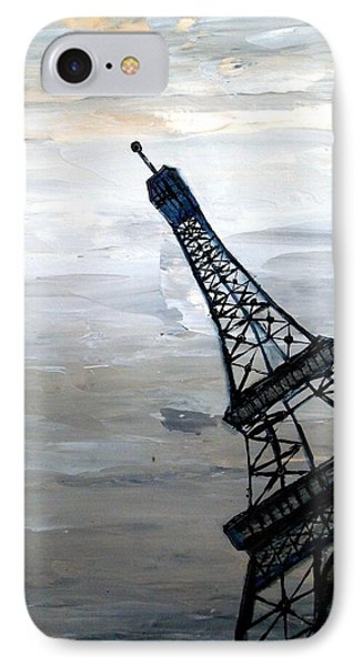 Eiffel Tower Silhouette Phone Case by Holly Anderson