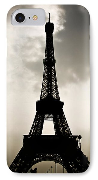 Eiffel Tower Silhouette IPhone Case