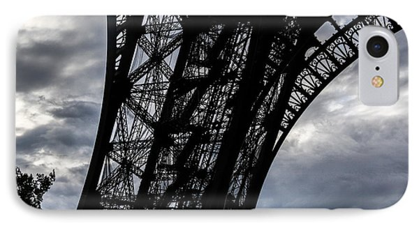 IPhone Case featuring the photograph Eiffel Tower Storm by Ross Henton
