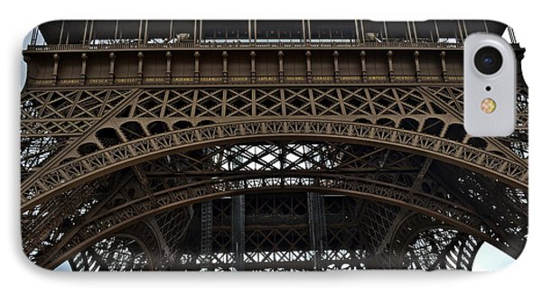 IPhone Case featuring the photograph Eiffel Tower - The Forgotten Names by Allen Sheffield
