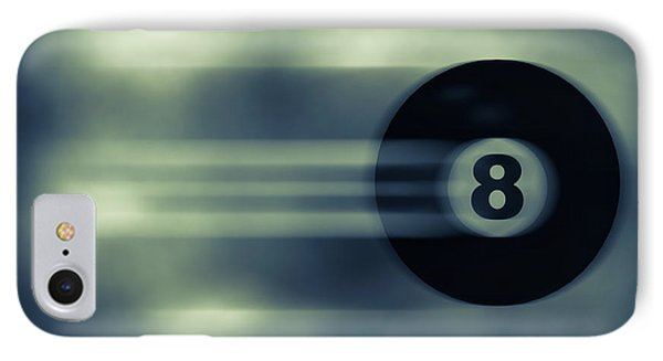 Eight Ball In Motion Phone Case by Bob Orsillo