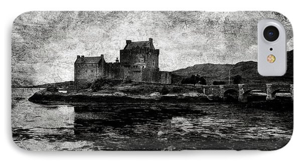 Eilean Donan Castle In Scotland Bw Phone Case by RicardMN Photography
