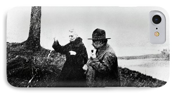 Einstein And Marie Curie IPhone Case