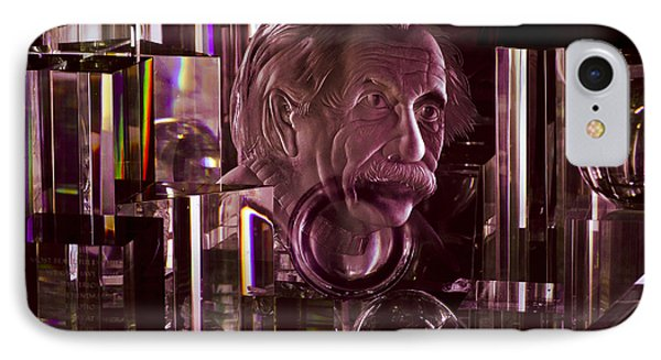 Einstein In Crystal - Purple IPhone Case