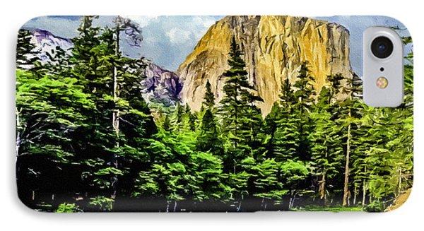 El Capitan Yosemite River Painting IPhone Case