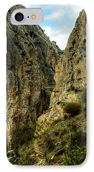 IPhone Case featuring the photograph El Chorro View Of The Railway Bridge by Julis Simo