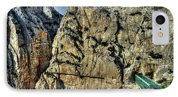 IPhone Case featuring the photograph El Chorro View With Railway Construction by Julis Simo