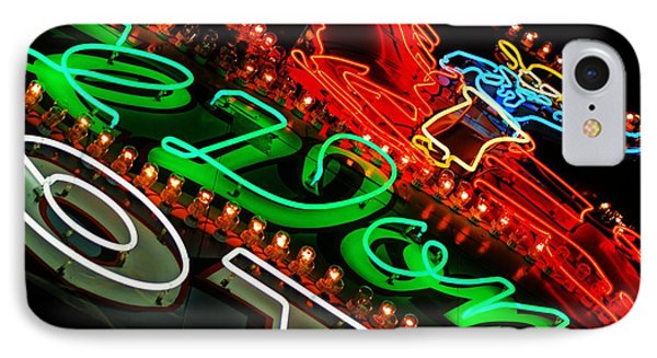 IPhone Case featuring the photograph El Don Neon by Daniel Woodrum