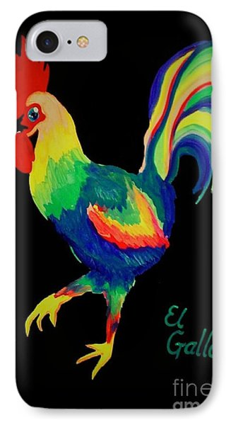 IPhone Case featuring the painting El Gallo by Marisela Mungia