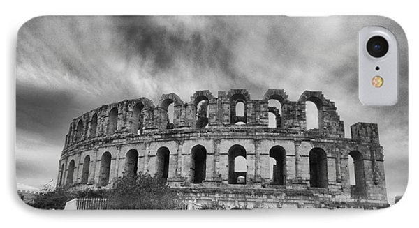 El Jem Colosseum 2 IPhone Case by Dhouib Skander