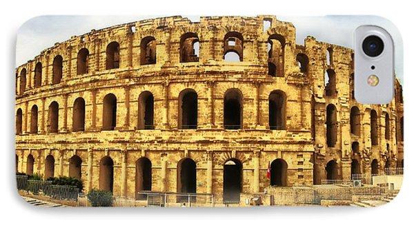 El Jem Colosseum IPhone Case by Dhouib Skander