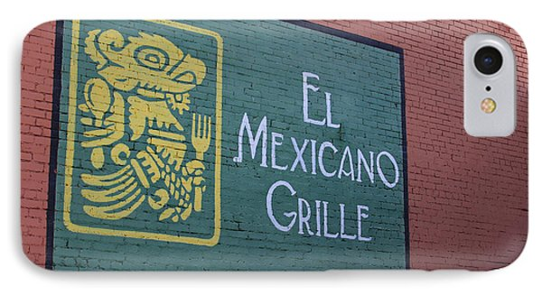 IPhone Case featuring the photograph El Mexicano Grille by Jerry Bunger