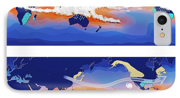 El Nino And La Nina Compared IPhone Case by Claus Lunau