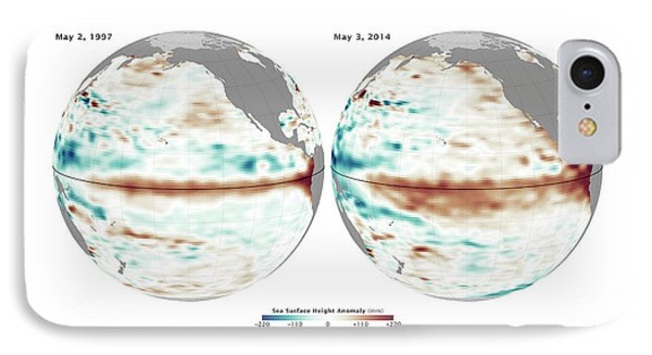 El Nino Comparison IPhone Case by Nasa/jpl Ocean Surface Topography Team