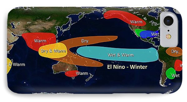 El Nino Winter Effects IPhone Case by Noaa
