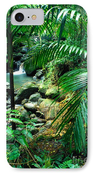 El Yunque Palm Trees And Waterfall Phone Case by Thomas R Fletcher