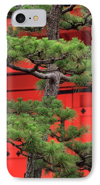Elaborately Sculpted Pine Trees IPhone Case by Paul Dymond