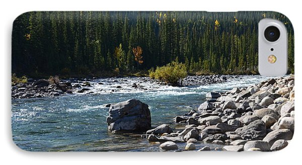 Elbow River Rock Art IPhone Case by Cheryl Miller