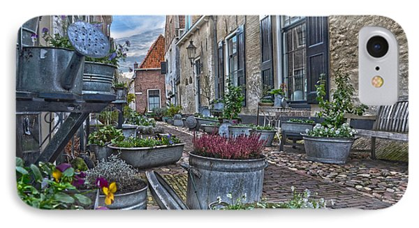 IPhone Case featuring the photograph Elburg Alley by Frans Blok