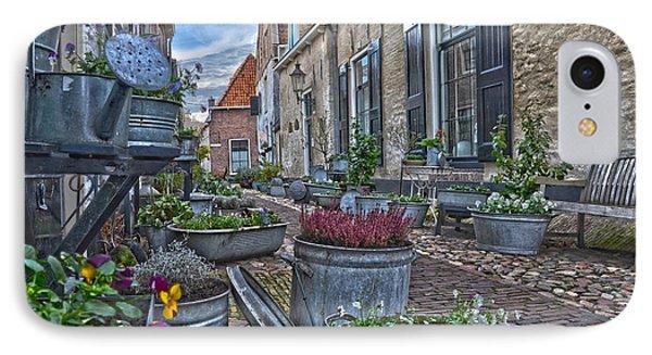 Elburg Alley IPhone Case by Frans Blok