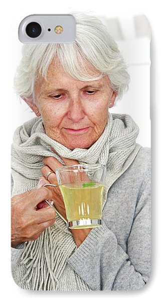 Elderly Woman Drinking Hot Lemon IPhone Case