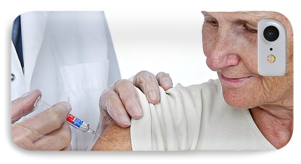 Elderly Woman Having An Injection IPhone Case