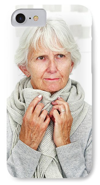 Elderly Woman Wearing A Scarf IPhone Case