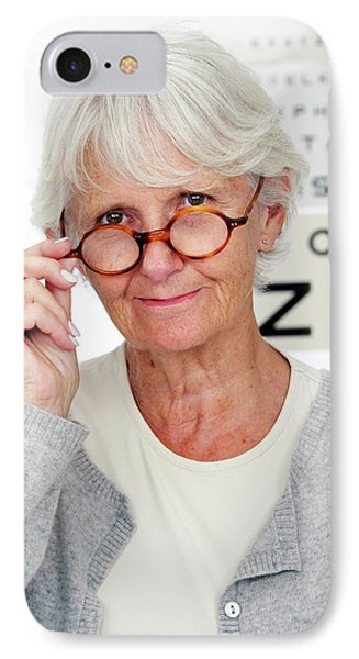 Elderly Woman Wearing Glasses IPhone Case
