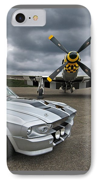 Eleanor Mustang With P51 IPhone Case by Gill Billington