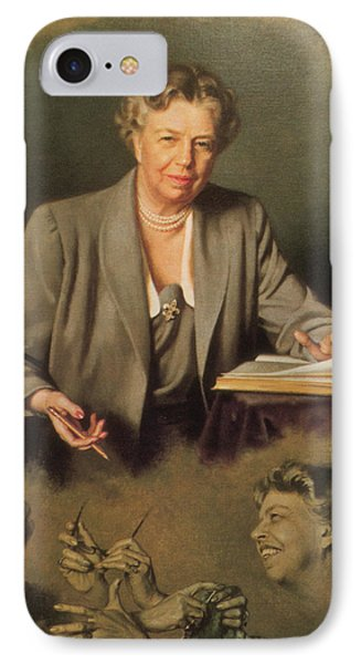 Eleanor Roosevelt, First Lady IPhone Case by Science Source