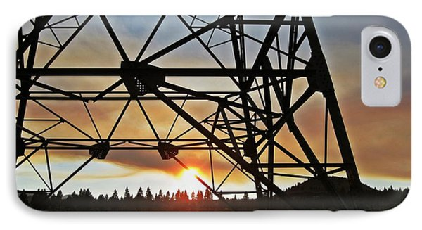 IPhone Case featuring the photograph Elecrical Tower Architecture by Jennifer Muller