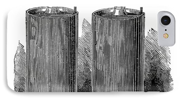 Electric Batteries, 19th Century IPhone Case