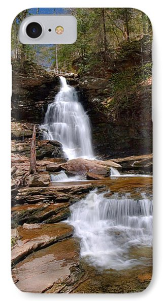 IPhone Case featuring the photograph Electric Blue Skies Over Ozone Falls by Gene Walls