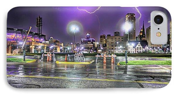 Electric Detroit  Phone Case by Nicholas  Grunas