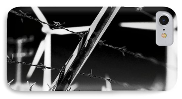 Electric Fence Black And White IPhone Case