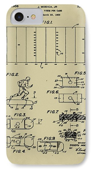 Electric Football Patent Phone Case by Bill Cannon