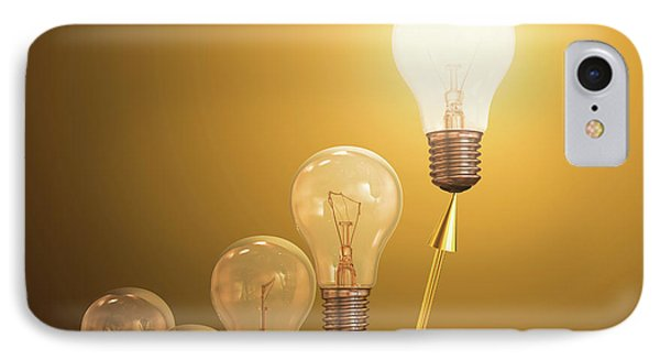 Electric Light Bulbs IPhone Case by Ktsdesign