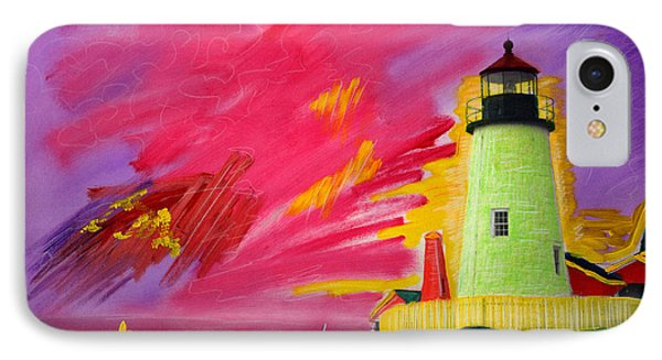 Electric Lighthouse IPhone Case by Cindy McIntyre