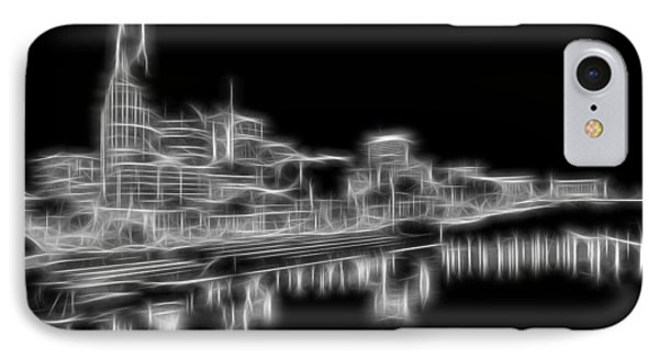 Electric Nashville Skyline At Night IPhone Case by Dan Sproul