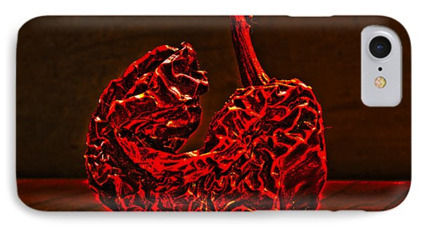 Electric Red Pepper IPhone Case by Joe Schofield