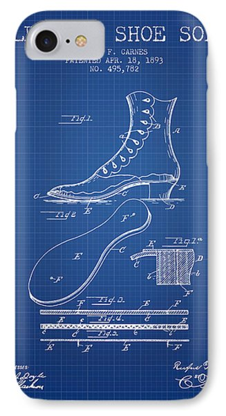 Electric Shoe Sole Patent From 1893 - Blueprint IPhone Case by Aged Pixel