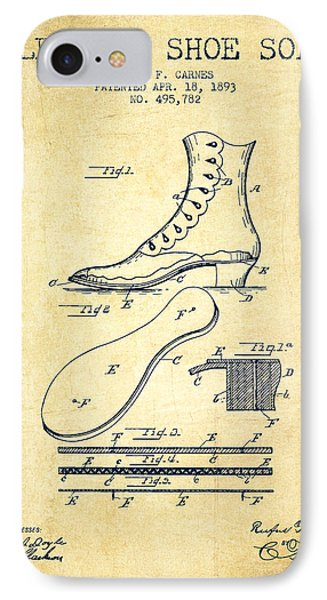 Electric Shoe Sole Patent From 1893 - Vintage IPhone Case by Aged Pixel