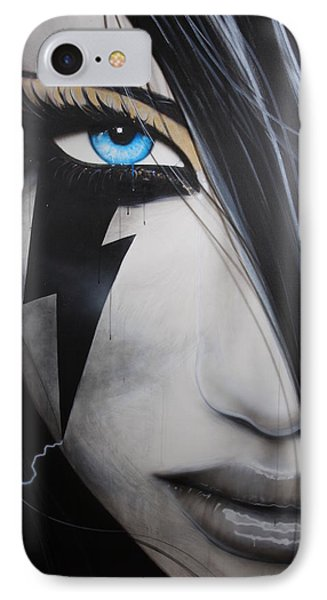 Portrait - ' Electric Sin ' IPhone Case by Christian Chapman Art