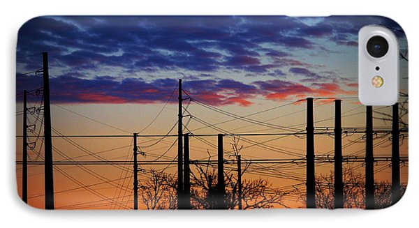Electric Sunset Two IPhone Case