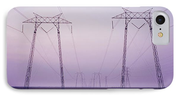 Electric Towers At Sunset, California IPhone Case by Panoramic Images