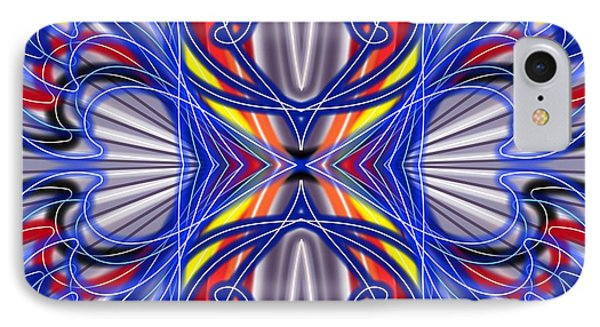 IPhone Case featuring the digital art Electric Wave by Brian Johnson
